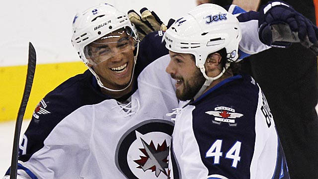 Evander Kane,  Zach Bogosian and the Jets are making the most of what they have. (USATSI)