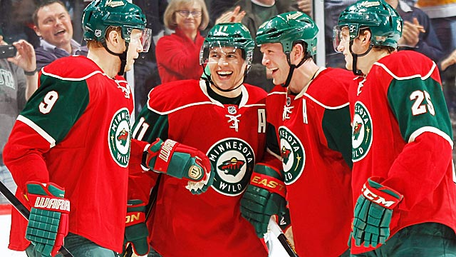 The Wild have lots to smile about at the moment, rising to No. 7 on their hot streak. (Getty Images)