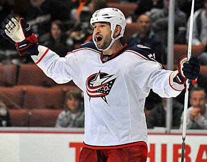 Columbus' Fedor Tyutin scores 2:19 into overtime, giving the surging Blue Jackets another win. (USATSI)
