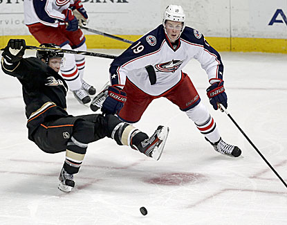 Ryan Johansen scores the tiebreaking goal with 1:37 remaining for the Columbus Blue Jackets. (USATSI)