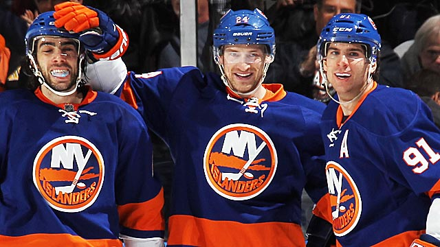 Matt Moulson, Brad Boyes and John Tavares are key parts of a fortified Islanders team. (Getty Images)