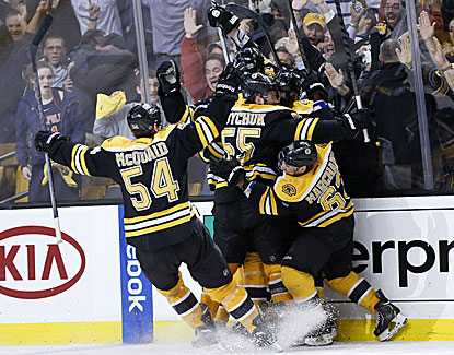 The Bruins are the first team in NHL history to win a Game 7 after trailing by three goals in the third period. (USATSI)