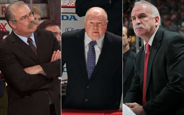 Paul MacLean, Bruce Boudreau and Joel Quenneville are the finalists for the Jack Adams Award. (Getty Images)