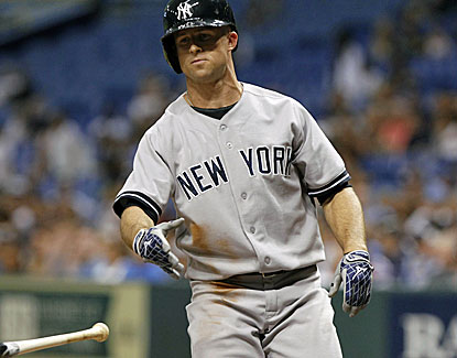 New York's Brett Gardner gives the Yankees a 5-0 lead with a two-run homer off Roberto Hernandez during the fourth. (USATSI)