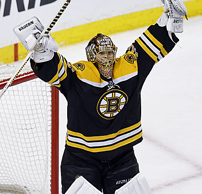 Tuukka Rask ends a phenomenal series with his second shutout to close the door on the high-powered Penguins.  (USATSI)