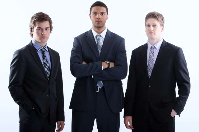 From left, Jonathan Drouin, Seth Jones and Nathan MacKinnon represent the top three on Chris Peters' NHL Draft big board. (Getty Images)