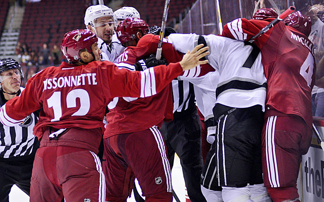 Paul Bissonnette left the bench and joined a fight while the player he was replacing was still on the ice. (USATSI)