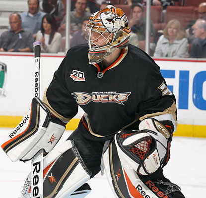 Frederik Andersen makes his NHL debut in net, and stops all 24 shots he sees to help the Ducks rally past the Stars. (Getty Images)