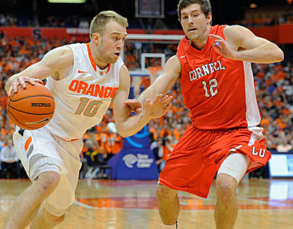 Syracuse's Trevor Cooney knocks down seven 3-pointers en route to a 27-point night against Cornell. (USATSI)