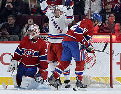 Ryan Callahan ends New York's four-year-old goal drought in Montreal, giving the Rangers the victory. (USATSI)