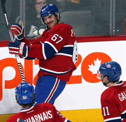 Max Pacioretty finds the back of the net twice as the Canadiens win their third consecutive game.  (USATSI)