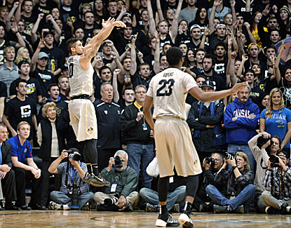Askia Booker and the Buffaloes knock out the No. 6 Jayhawks in a classic at Boulder.  (USATSI)
