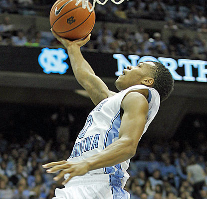 James Michael McAdoo scores 12 of his 14 points after halftime to lift No. 19 North Carolina. (USATSI)