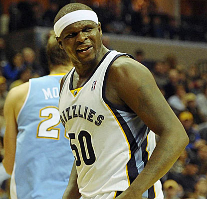 Zach Randolph's (20 points) work inside gives the Grizzlies the advantage down low against the Nuggets. (USATSI)