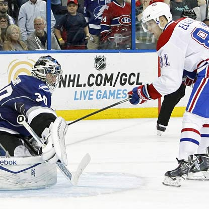 Lars Eller beats goalie Ben Bishop for the shootout's only goal in the Canadiens' 2-1 win.  (USATSI)