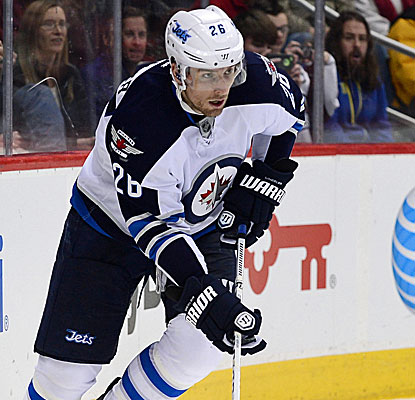 Blake Wheeler comes through with the game-winner in overtime to lift the Winnipeg Jets over the Avalanche. (USATSI)