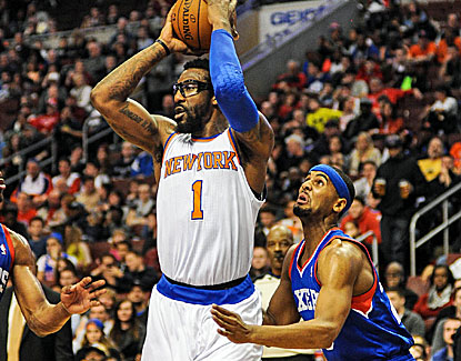 Amar'e Stoudemire is effective again for the Knicks, making eight of his 10 shots and all five free throws. (USATSI)