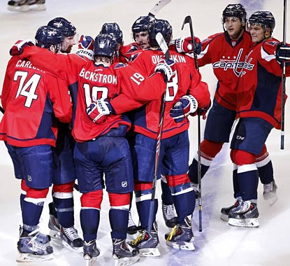 Ovechkin's power play goal in overtime gives the sputtering Capitals a big reason to celebrate.  (USATSI)