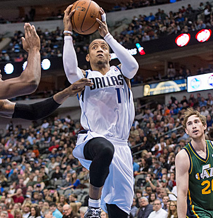 Dallas guard Monta Ellis scores 22 points on (for him) a meager 17 shots, helping Dallas beat the Jazz. (USATSI)