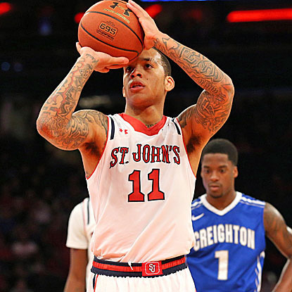 St. John's D'Angelo Harrison scores 19 points, including the go-ahead 3-pointer with 2:08 to play. (USATSI)