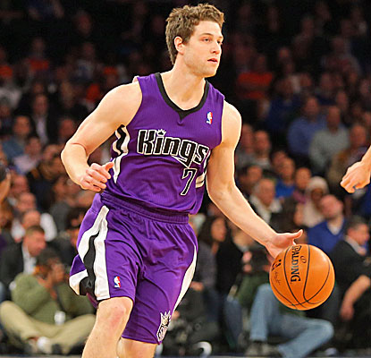 Jimmer Fredette drops in a career-high 24 points for the Kings against New York, making nine of his 14 shots. (USATSI)