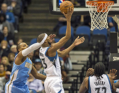 The Timberwolves get a boost from Corey Brewer, who contributes 22 points to go with five steals. (USATSI)