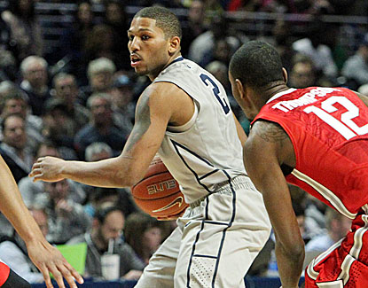 Guard D.J. Newbill goes off for 23 points against Ohio State, leading unranked Penn State to victory. (USATSI)