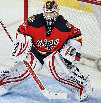 Joni Ortio, making his second start in goal for Calgary, finishes with 30 saves in the Flames victory. (USATSI)