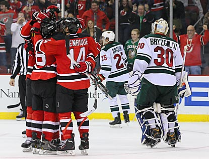 The Devils stay close to the playoff line while Ilya Bryzgalov and the Wild settle for one standings point.  (USATSI)