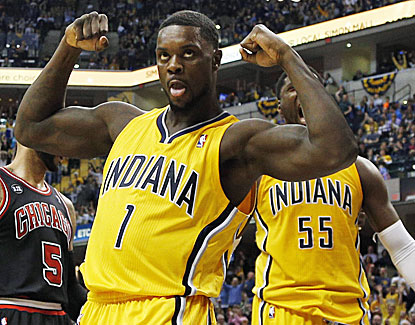 Guard Lance Stephenson drops in 15 points for the Pacers against the Bulls on just seven shots. (USATSI)