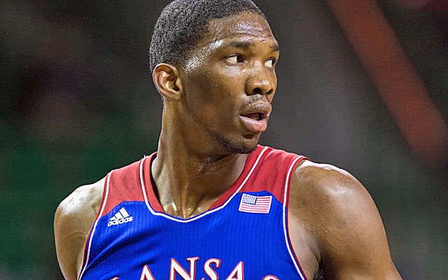 Philadelphia could select Embiid with the No. 3 pick. (USATSI)