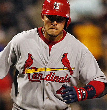 St. Louis catcher Yadier Molina finishes 2 for 4 and his solo homer in the sixth gives the Cardinals plenty of cushion. (USATSI)