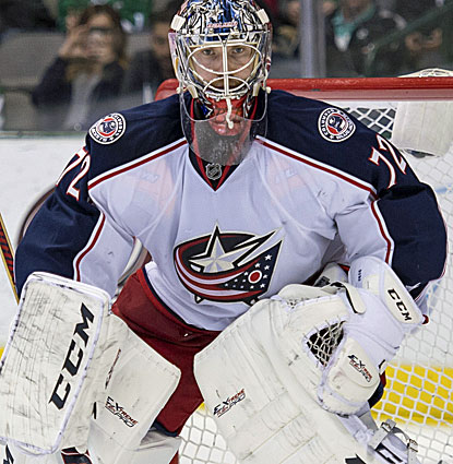 Columbus goalie Sergei Bobrovsky stops 17 of 18 shots in the third period and 33 of 34 overall (USATSI)