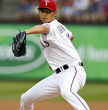 Texas Rangers starter Yu Darvish allows just one hit and one walk in eight innings with nine strikeouts. (USATSI)