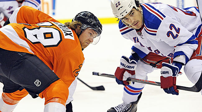 Rangers power past Flyers for Game 1 win