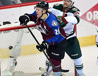 Colorado's Paul Stastny scores an empty-net goal against Minnesota, sealing the win for the Avalanche. (USATSI)