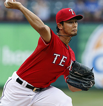 Yu Darvish delivers again for the Rangers, striking out 12 Red Sox while just missing a no-hitter. (USATSI)