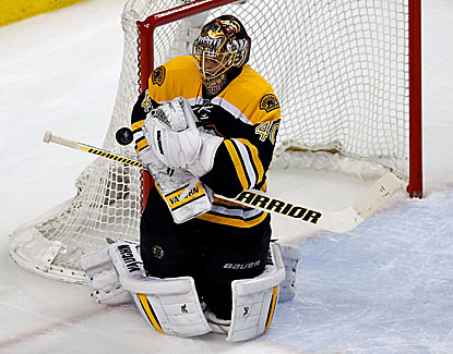 Tuukka Rask makes 29 saves for the Bruins, who take a 3-2 series lead by knocking off Montreal in Game 5. (USATSI)