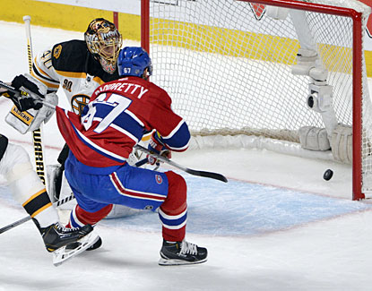 Canadiens forward Max Pacioretty (67) scores on Bruins goalie Tuukka Rask during the second period. (USATSI)