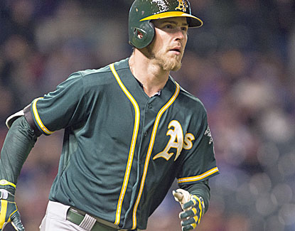 Oakland's Josh Reddick homers twice, including a grand slam, and drives in a career-high six runs. (USATSI)