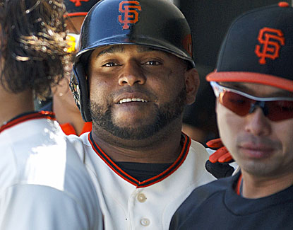 Pablo Sandoval homers for the Giants, his first in more than a month, and also contributes another base hit. (USATSI)