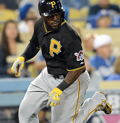 Josh Harrison's second RBI single leads to a three-run seventh inning for the Pirates against the Dodgers. (USATSI)