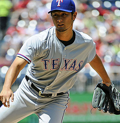 Rangers ace Yu Darvish keeps baffling batters, fanning 12 Nationals to give him 83 strikeouts in 69.1 innings pitched. (USATSI)