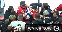 Habs and Sens fans scrap