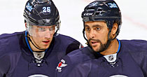 Blake Wheeler, Dustin Byfuglien (Getty Images)