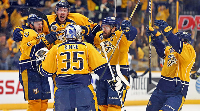 Predators beat Sharks in 3OT