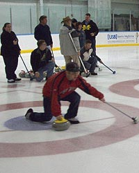 Curling action. height=