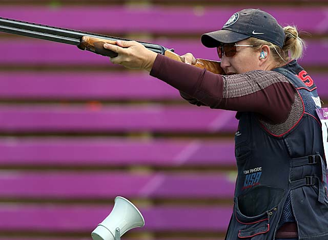 The U.S. team notches its biggest day in shooting history with Rhode hitting her marks. (Getty Images)