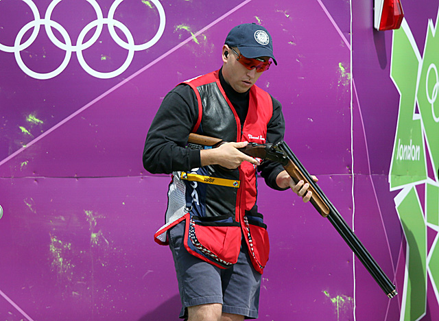 Hancock helps the U.S. sweep in skeet shooting, after Kimberly Rhode won on the women's side. (Getty Images)