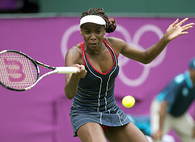 Williams dominates at the net, converting on 15 of 16 points when she moved forward. (Getty Images)
